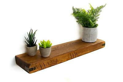 Rustic Floating Shelves Handcrafted with Arrowhead Corners 15 cm Depth x 5cm