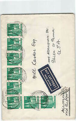 Germany 1949 B8 Airmail Cover To Usa