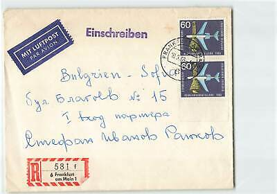 Germany 1965 Regd Airmail Cover To Bulgaria