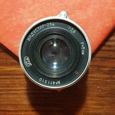 INDUSTAR-26M 50mm f/2,8 Lens mount M39 Red P  MADE IN USSR