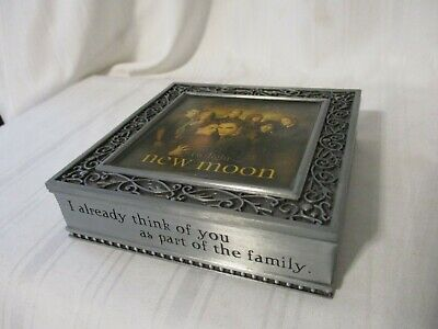 """Twilight Neca New Moon trinket box pewter square """"I already think of you as part"""