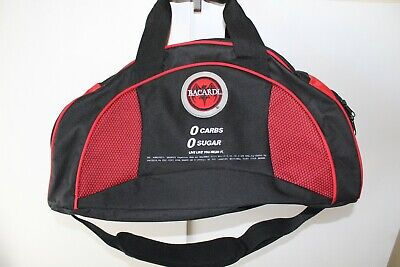 Bacardi Rum Duffle Bag Embroidered Spell Out Logo