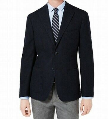 DKNY Mens Suit Seperate Blue Size 40 Long Notch-Lapel Two Button $450 153