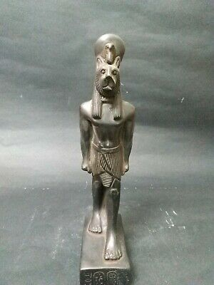 Antique Statue Rare Ancient Egyptian Pharaonic Sekhmet black stone  Bc