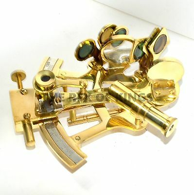 """4"""" Nautical Scout's Brass Sextant Astrolabe Marine Navigation Polished Sextant"""