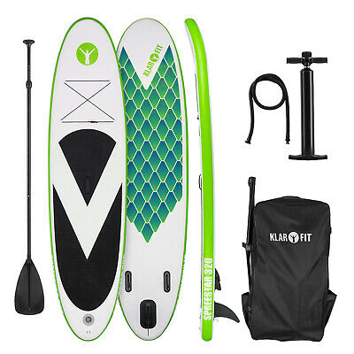 Tabla de paddle surf hinchable SUP Stand up paddle 320x12x81 Remo Board Verde