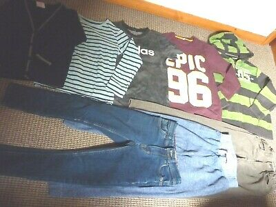 Bundle Boys Clothes age 7-8yrs Next Adidas Tops Jeans Joggers Hoodie Cardi  MORE