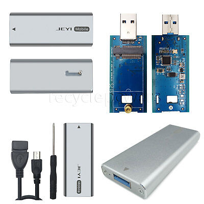 M.2 NGFF SSD SATA TO USB 3.0 ASM1153E TRIM Support External Storage Case Adapter