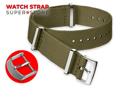 Army Green Nylon Strap For OMEGA NATO James Bond 007 Watch Band Buckle 18-24mm
