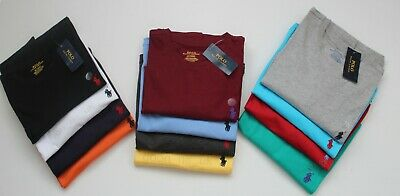 Men's Ralph Lauren Crew Neck Short Sleeve Cotton T-Shirts S M L XL XXL