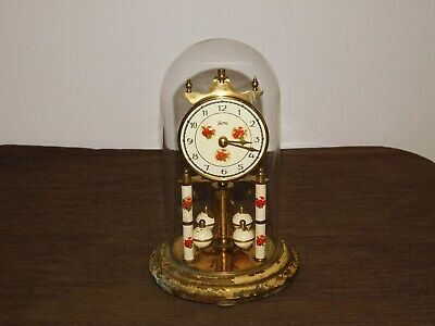 "Vintage  Germany Koma 9"" High Wind Up Mantle Clock *For Parts Not Working"