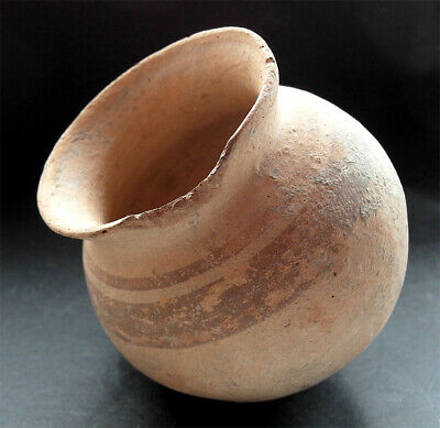 A genuine ancient Roman terracotta vessel