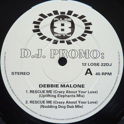 "Debbie Malone - Rescue Me (Crazy About Your Love) (12"", Promo)"