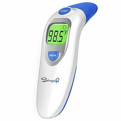 Baby Forehead Thermometer with Ear Function, Digital Medical (Dark Blue)