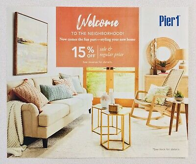 Pier 1 Pier One Imports 15% Off ENTIRE Purchase Stores/Online Offer Exp 2/29/20