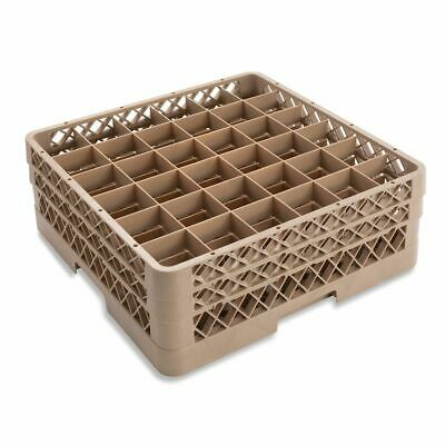 Traex TR7CC Beige 36 Compartment Glass Rack with 2 Extenders