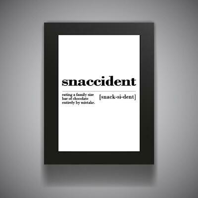 SNACCIDENT Funny Kitchen Print Contemporary Wall Art Poster Toilet Home Bathroom