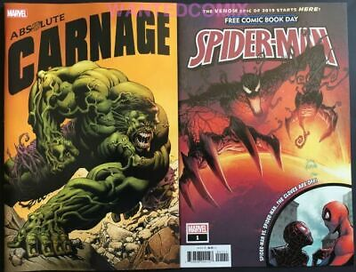 ABSOLUTE CARNAGE AVENGERS #1 1:25 Sandoval Codex Variant Comic Book NM Marvel
