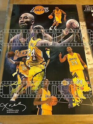 Kobe Bryant Poster collectible 34X22 #8 #24 mamba Los Angeles Lakers