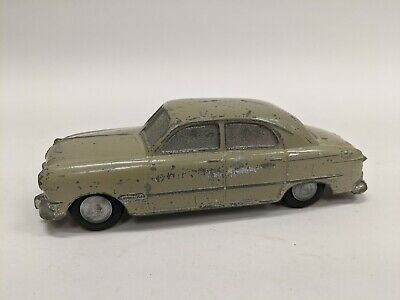 Vintage Metal Banthrico Bank Promo Car 1950's Four Door Ford