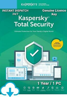 Kaspersky Total Security 2020 (1PC) Antivirus Multi-Device Genuine License Key