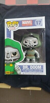 Funko Pop! Marvel Universe DR. DOOM (17) Vaulted W/ Protector Authentic Rare HTF