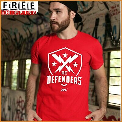 Hot Item DC Defenders XFL 2020 T-shirt New Red T Shirt Unisex S-5XL FREESHIP