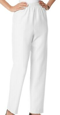 Alfred Dunner Women Casual Pants White Size 12P Petite Elastic Waistband $34 306