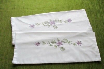 PR.VINTAGE PILLOWCASES-WHITE COTTON with EMBROIDERY -UNUSED