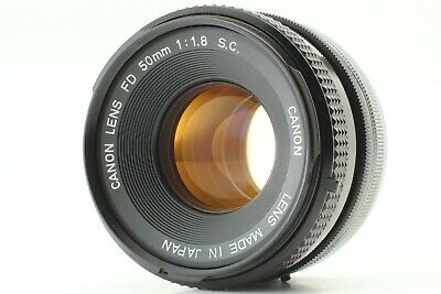 [MINT] Canon FD 50mm F1.8 S.C. Prime Lens For AE-1 A-1 F-1 SLR From Japan