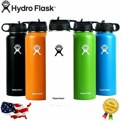 Hydro Flask Stainless Steel Water Bottle Thermos Straw Lid Drinking US Seller