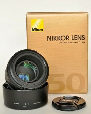 Nikon 50mm f1.4G AF-S with original guarantee papers and box.