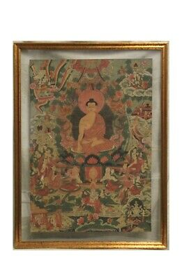 Antico Thangka Databile Xix Secolo / Thangka Dell'800 / Thangka Tibet / Thangka