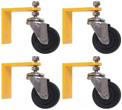 """18"""" & 20"""" Whirlaway Pressure Washer Flat Surface Cleaner Castor Wheel Kit (x4)"""
