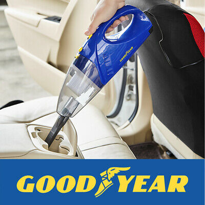 Goodyear 60W 12v Wet and Dry Vacuum Cleaner Long Cord Cyclone Filter Bagless