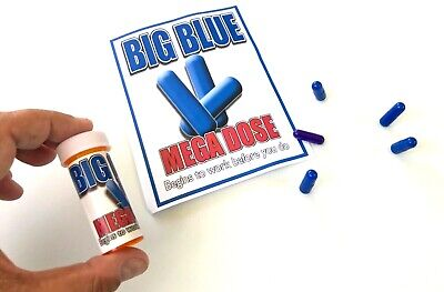 BIG BLUE BOTTLE Pills Pop Up Adult Viagra Joke Gag Prank Magic Trick Funny Stand