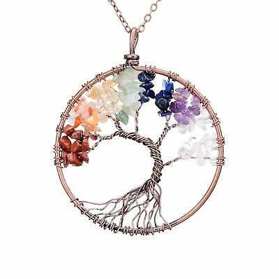 sedmart Four Seasons Tree of Life Pendant Wire Wrapped Wisdom Ancient Copper