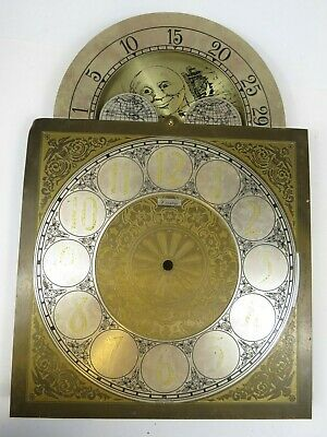 VTG Brass Clock Face Dial Grandfather Crown West Germany