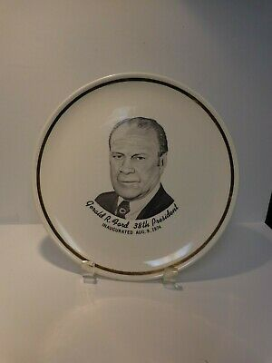 Vintage Gerald R. Ford 38th Presidential Plate Rare