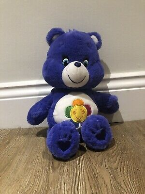 Care Bear Plush Teddy - Purple - Harmony Bear - 36cm Tall.