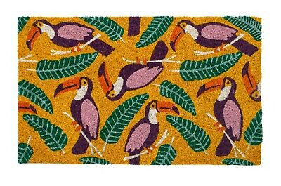 "Door Mats - Tropical Toucans Coir Doormat - 17"" X 28"" - Tropical Decor - Toucan"