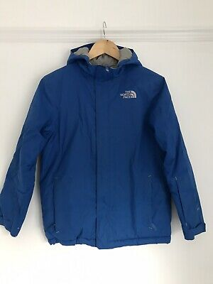 The North Face Blue Hooded Coat Boys/Junior Size Large 14/16