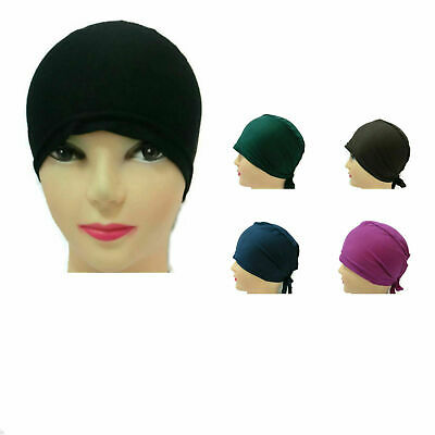 Ladies Under Scarf Tie Back Cap for Hijab Scarf Chemo Hat Hijab Styling
