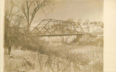 C-1910 North Granville New York Truss Girder Bridge RPPC Photo Postcard 20-785