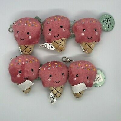 6 Ice Cream Plush Bag Charms - Sass & Belle - Kids Party Goody Bags -