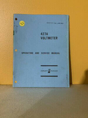 HP 00427-90003 Model 427A Voltmeter Operating and Service Manual