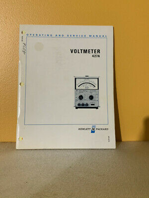 HP 00427-90004 Model 427A Voltmeter Operating and Service Manual