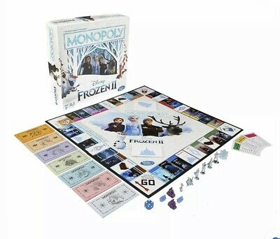 Monopoly Game: Disney Frozen 2 Edition Board Game for Ages 8 and Up NEW
