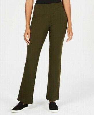 Style & Co. Womens Pants Green Size Small S Tummy-Control Bootcut Stretch- 345