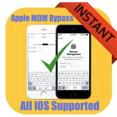 UNLIMITED MDM BYPASS ANY IOS 7-13 DEVICE MANAGEMENT BYPASS PROGRAM 1-12 Hour